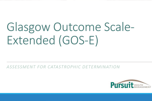 Glasgow Outcome Scale Extended